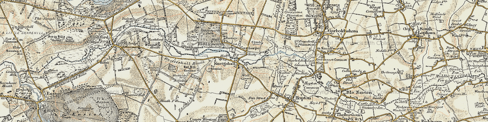 Old map of Angles Way in 1901