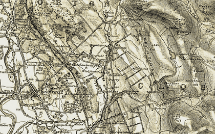 Old map of Linnburn Hill in 1904-1905