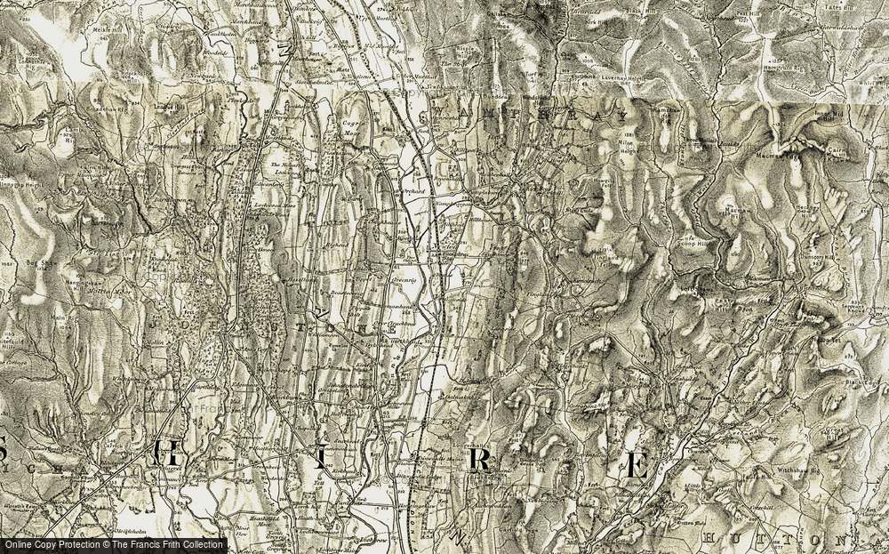 Old Map of Historic Map covering Leithenhall in 1901-1904