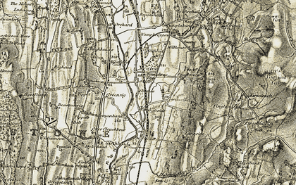 Old map of Langside in 1901-1904