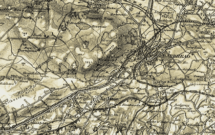 Old map of Woodneuk in 1905-1906