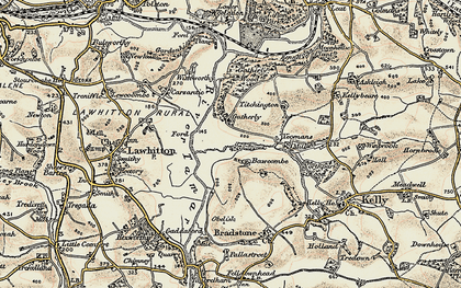 Old map of Yeomans in 1899-1900