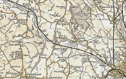 Old map of Ackhurst Hall in 1903