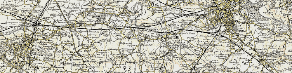 Old map of Bruntwood Hall in 1903