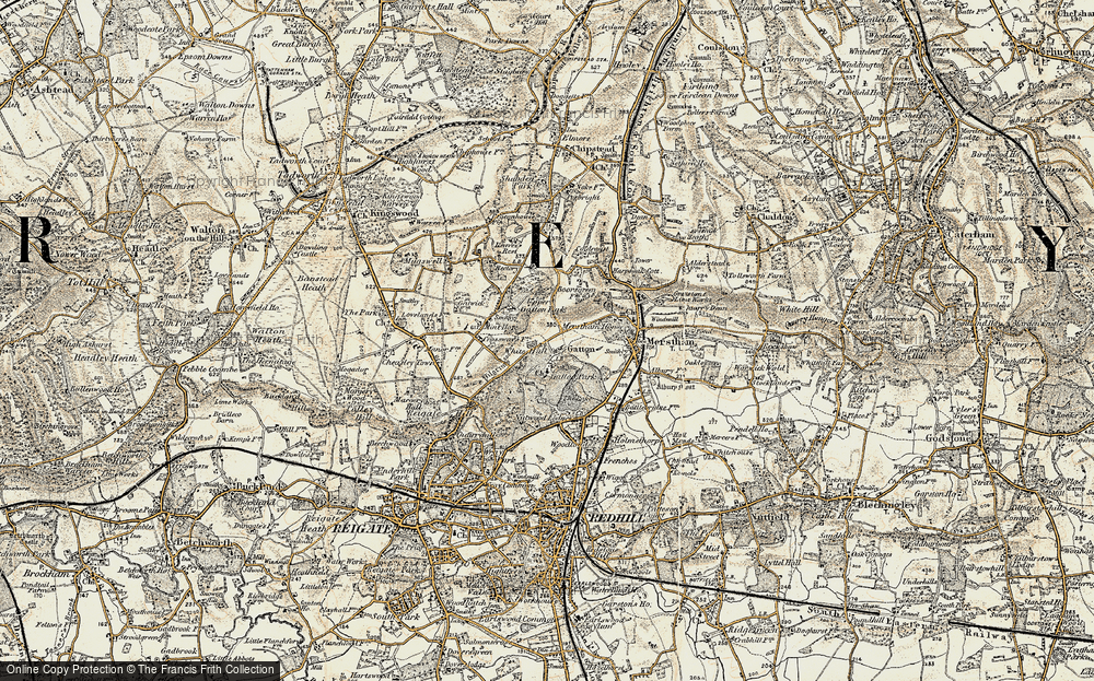 Old Map of Gatton, 1898-1909 in 1898-1909