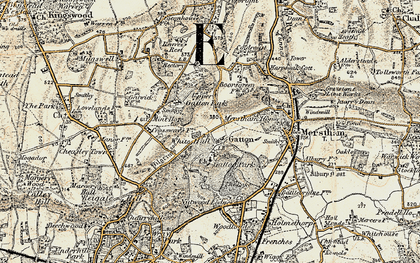 Old map of Gatton in 1898-1909