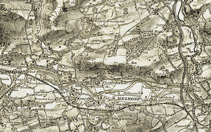 Old map of Allerly in 1901-1904