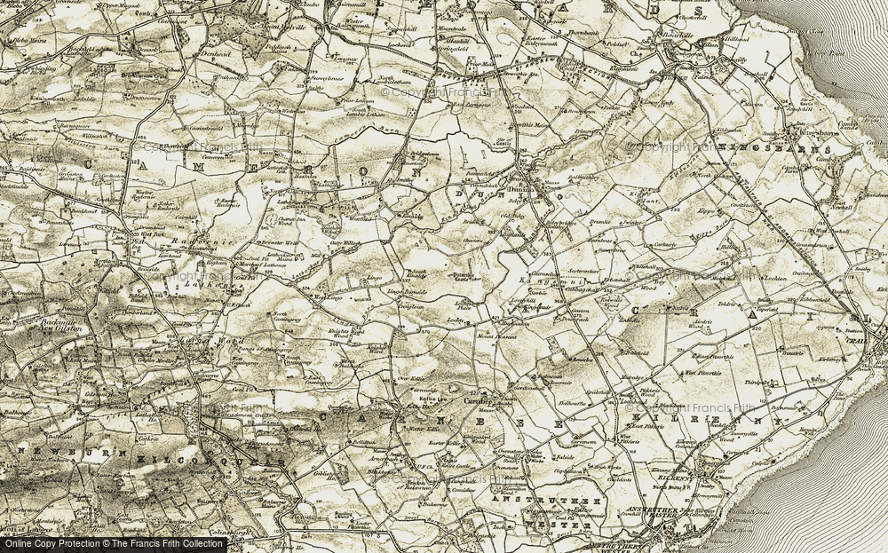 Old Map of Historic Map covering Lingo House in 1906-1908