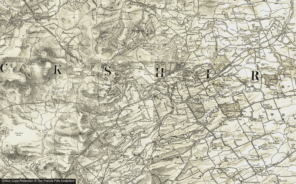 Old Map of Historic Map covering Langton Mill in 1901-1904