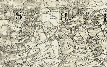 Old map of Young Jeanie's Wood in 1901-1904