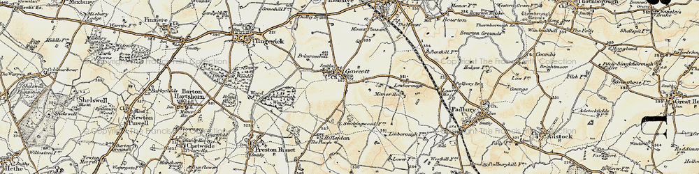 Old map of Gawcott in 1898-1899