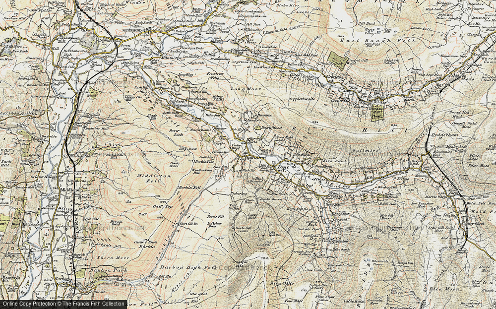 Old Map of Historic Map covering Wood Head Lathe in 1903-1904