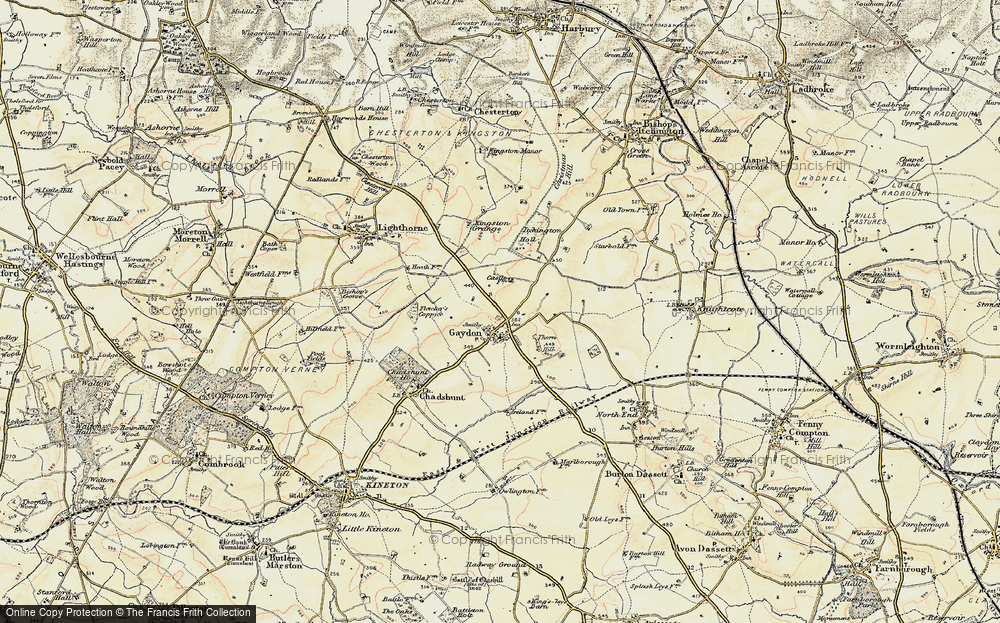 Old Map of Gaydon, 1898-1902 in 1898-1902