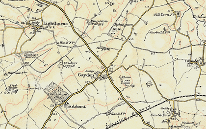 Old map of Gaydon in 1898-1902