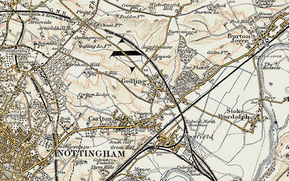Old map of Gedling in 1902-1903