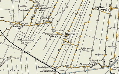 Old map of Gedney Hill in 1901-1902