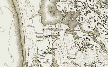 Old map of Bàgh nam Fiadh in 1911