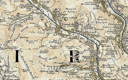 Old map of Gelli in 1899-1900