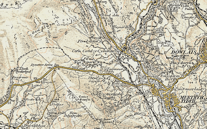 Old map of Ffrwd-isaf in 1900