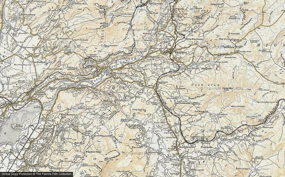 Old Map of Gellilydan, 1903 in 1903