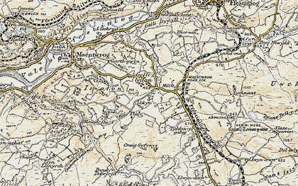 Old map of Gellilydan in 1903