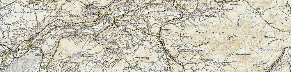 Old map of Gellilydan in 1903