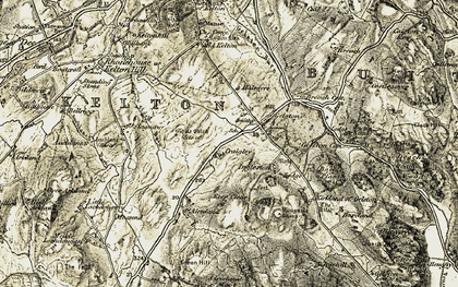 Old map of Tod Fell in 1904-1905