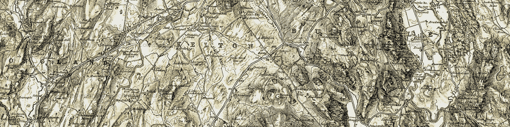 Old map of Airieland Burn in 1904-1905