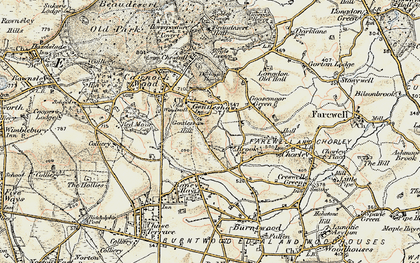 Old map of Gentleshaw in 1902