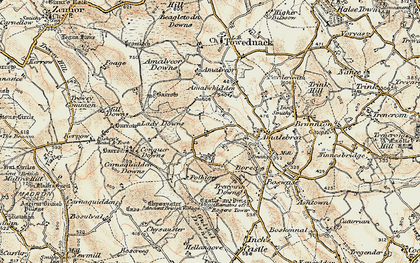 Old map of Georgia in 1900