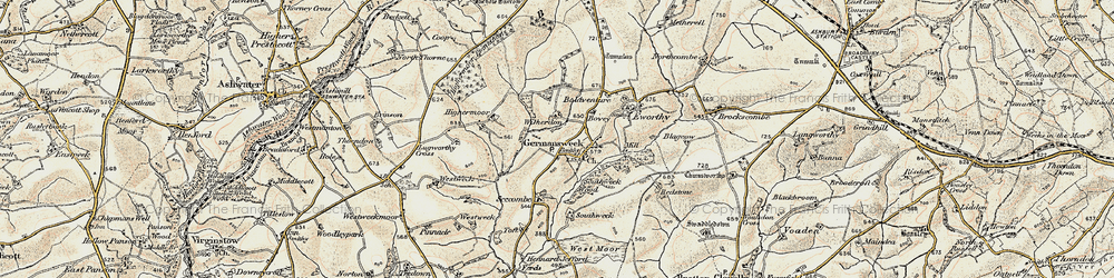 Old map of Witherdon Wood in 1900