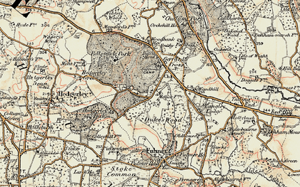 Old map of Gerrards Cross in 1897-1898