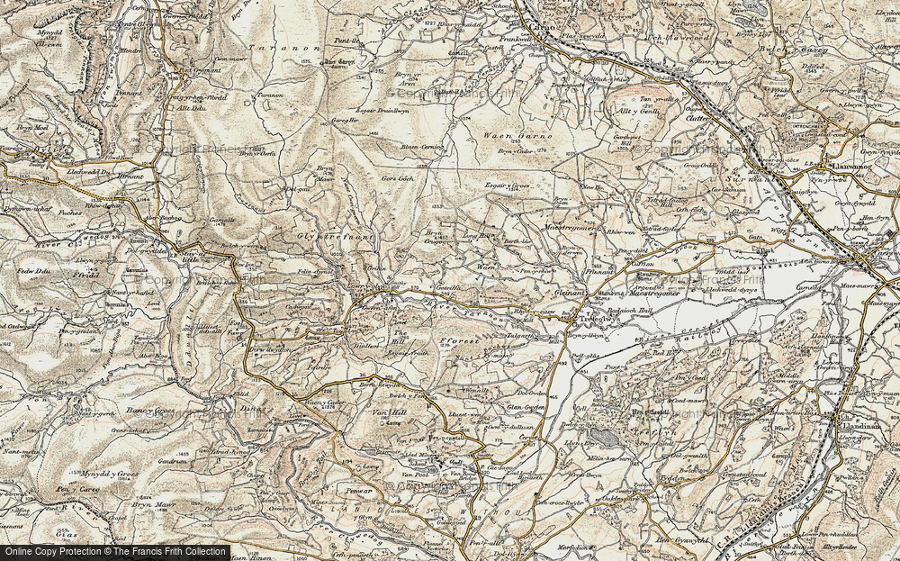 Old Map of Historic Map covering Afon Trannon in 1902-1903