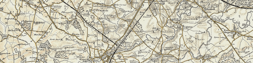Old map of Westley Br in 1901-1902
