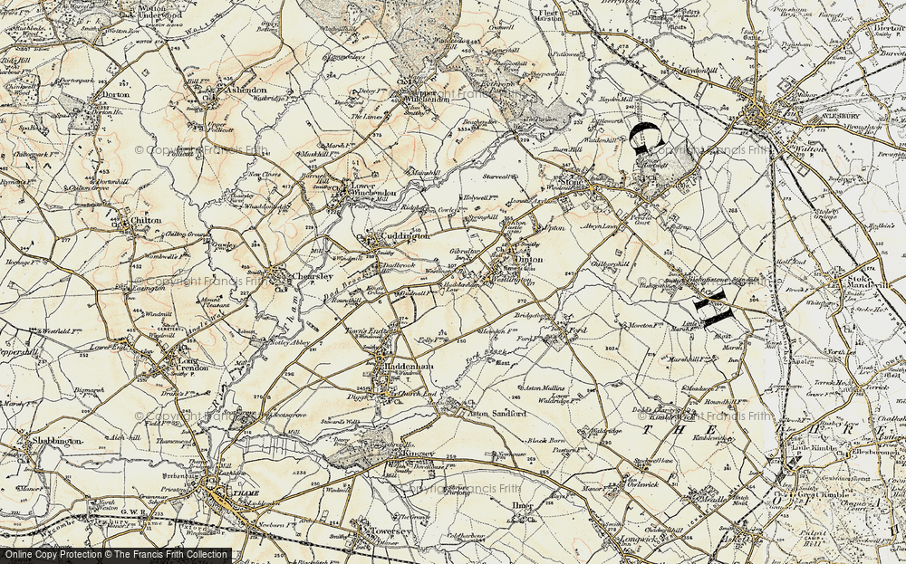 Old Map of Historic Map covering Westlington Ho in 1898