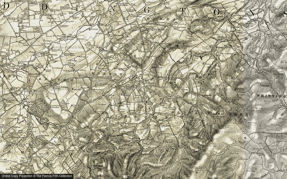 Old Map of Historic Map covering Woodhead in 1901-1903