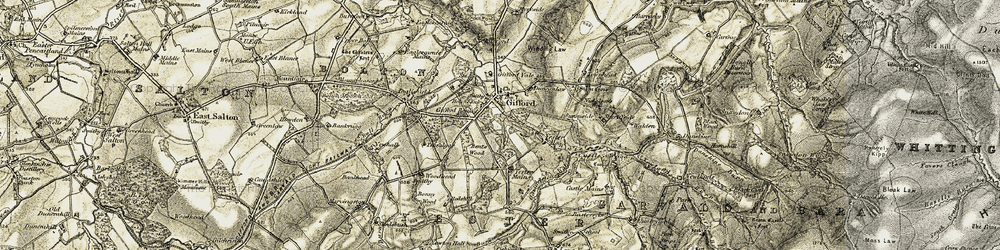 Old map of Wester Wood in 1901-1903