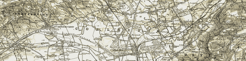 Old map of Angle Park in 1906-1908