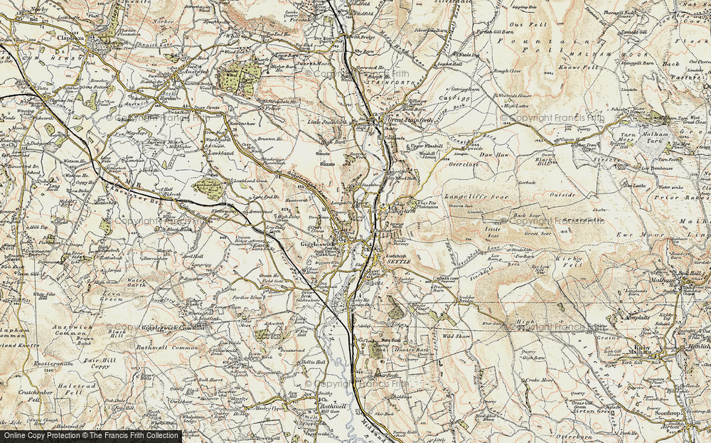 Old Map of Giggleswick, 1903-1904 in 1903-1904