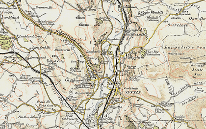 Old map of Giggleswick in 1903-1904
