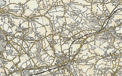 Old map of Gilbert's Coombe in 1900
