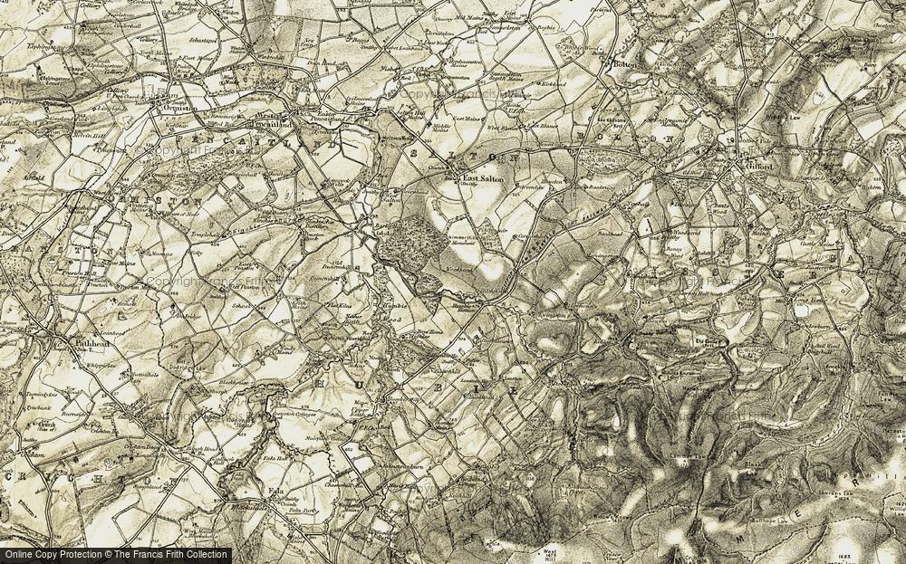 Old Map of Historic Map covering Aikeyside in 1903-1904
