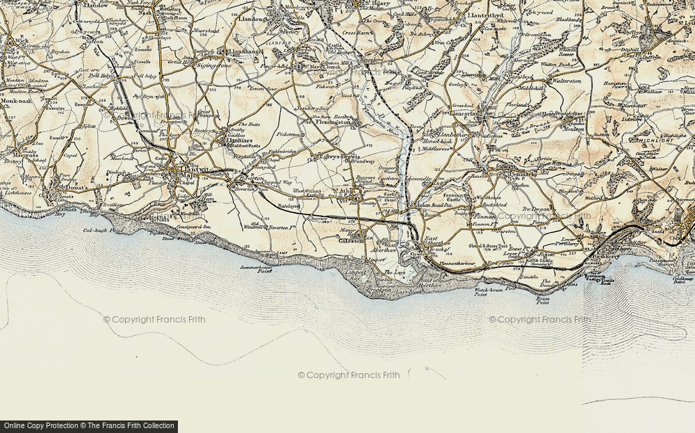Old Map of Gileston, 1899-1900 in 1899-1900