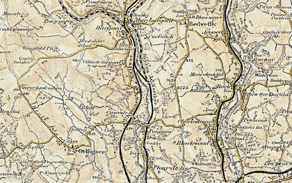 Old map of Gilfach in 1899-1900