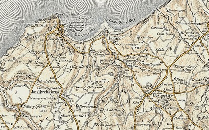 Old map of Gilfachreda in 1901-1903