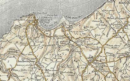 Old map of Gilfachrheda in 1901-1903