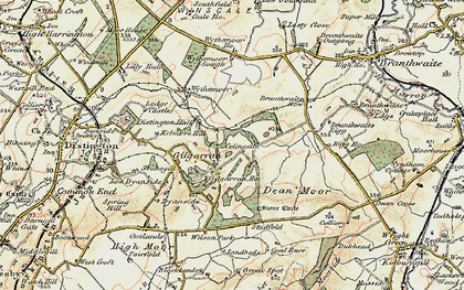 Old map of Wythemoor Ho in 1901-1904