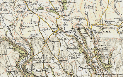 Old map of Hutton-le-Hole in 1903-1904