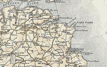 Old map of Gillan in 1900