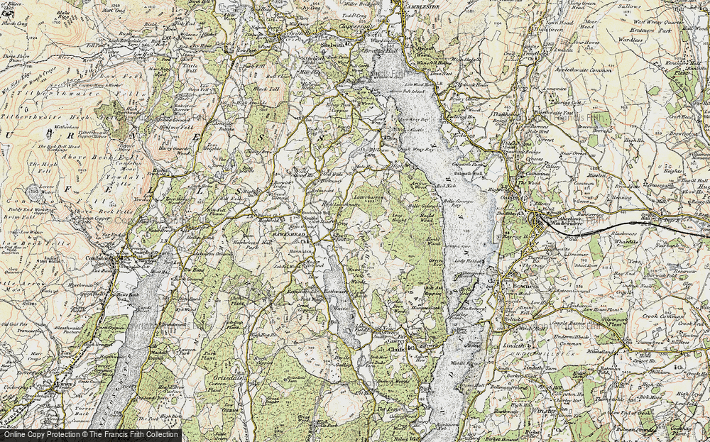 Old Map of Historic Map covering Latterbarrow in 1903-1904